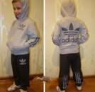 Спортивный костюм « adidas» с.серый-т.серый