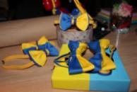 Галстук-бабочка патриотическая желто-синяя/метелик патріотичний жовто-синій