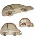 Доска разделочная «Машина» 34х21см, деревянная