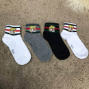 Socks Gucci Pack 4 Grey/White/White/Black