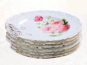 Набор 6 тарелок «Бант» десертные Ø19см