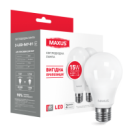 LED лампа MAXUS A70 15W 3000K 220V E27 (2-LED-567-01)