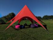 Красная палатка в аренду на 20-30 человек