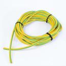 Жгут спортивный резиновый в тканевой оплетке ( резина, d-12 мм, I-1000 см, желтый ) rez.yelow12