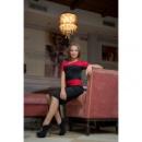 Платье Виктория Бекхем красное,склад№1