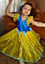 Платье «Украина» - эксклюзив ручной работы и авторский дизайн для девочки + аксесуар для прически от Аллы Яковенко