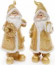 Фигурка декоративная «Санта Клаус в золотом с подарком» 18см