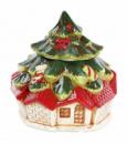 Банка для новогодних сладостей «Домик» 2.8л керамическая