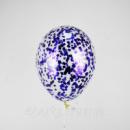 Прозрачные шары с конфетти квадратики №3