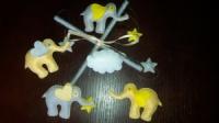 Мобиль в кроватку «Слоники желтые»