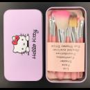 Яркий набор кистей для макияжа Hello Kitty, 7 шт