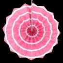 бумажный веер 20 см розовый