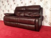 Кожаный двухместный диван производства Германии