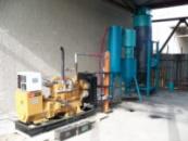 Газогенератор на твёрдом топливе для электростанции