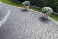 Плитка тротуарная «Кирпичик» (пресс серая)