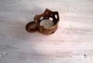 Керамический подсвечник «Разбитая кофейная чашка»