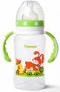 Бутылочка детская для кормления Fissman Babies «Зайчик на колесах» 300мл с ручками