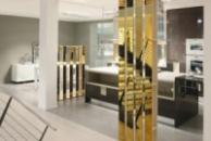 Зеркало золотое 585 пробы. Зеркало покрытое золотым напылением. Mirror 585 gold. Mirror covered with gold plating.
