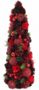 Декоративная елка «Красная шишка» 48см с натуральными шишками