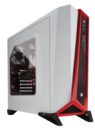Corsair Carbide Series SPEC-ALPHA White/Red Windowed Mid-Tower ATX Case CC-9011083-WW