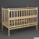 Кроватка «Наталка» деревянная, откидной бок. Ольха светлая