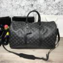Softsided Luggage Louis Vuitton Keepall 55 Monogram Eclipse