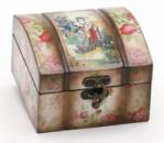 Деревянная шкатулка «Адель Восточный Мотив Розы» (глянец), 11.5x12.5x8см