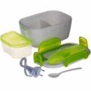 Судочек с подогревом, термос пищевой, ланчбокс (3166) Салатовый