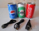 Компактная портативная колонка PEPSI  MP3,USB,радио  TF,MicroSD