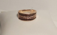 Стильное кольцо позолота 18К с цирконием арт: А 39