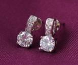 Серьги, покрытие родий. Ювелирная бижутерия Xuping Jewelry.