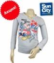 Реглан-футболка с длинными рукавами для девочек серый «Mickey Mouse» (Мики Маус), «Disney» (оригинал)