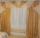 Ламбрекен со шторами для гостиной «Дана»