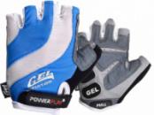 Велорукавички PowerPlay 5034 Біло-блакитні S