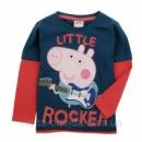 Модный и яркий реглан с любимым героем Свинкой Пеппа для мальчика