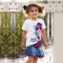 Детская футболка, юбка для девочки