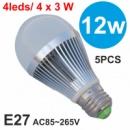 LED лампы 12 Вт. 220 V 5 шт. в лоте