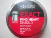 JSB Diabolo EXACT KING 300шт 6.35мм, штамп 0, 2.2г.