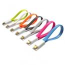 Качественный плоский micro-USB кабель от Soshine, 17см