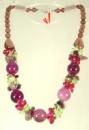 Коллекция «Подарок в год Змеи» - Ожерелье из фиолетового Агата и крошки аметиста, кварца и хризолита