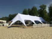 Шатер Звезда-4 10х23 Белый Шатер для отдыха, Большой шатер для свадьбы