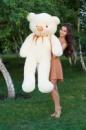 Большой плюшевый медведь Тедди 180 см кремовый