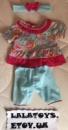 Одежда для Baby Born Беби Борн костюмчик повязка, кофточка, штанишки
