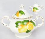 Сахарница «Лимон» 260мл, фарфор