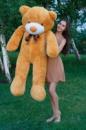 Большой плюшевый медведь Тедди 160см карамельный