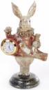 Декоративная фигурка с часами «Белый Кролик» 21см, медный кафтан