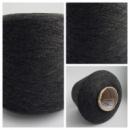 Пряжа WORAZ, темно-серый меланж (1/13500, 1350м/100г ). Точный состав неизвестен, похож на хлопок с вискозой.