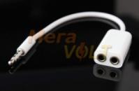 Разветвитель, раздвоитель, кабель для наушников 3.5 mm (сплиттер)