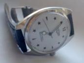 Мужские механические винтажные часы Vulcain швейцарские 70s.02WT 38 мм
