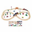 Игрушка Viga Toys «Железная дорога» (49 деталей) (56304)